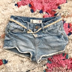Zara baby denim shorts